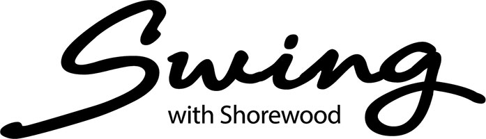 Swing with Shorewood Premiere Sponsors logo.