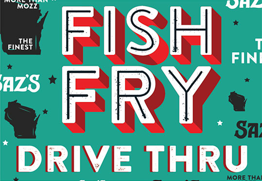 Saz's Fish Fry drive-thru logo.