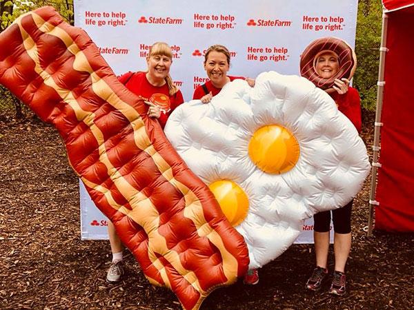 bRUNch 5k bacon & eggs.