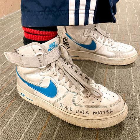 Alemitu Caldart walks the talk with her sneakers.