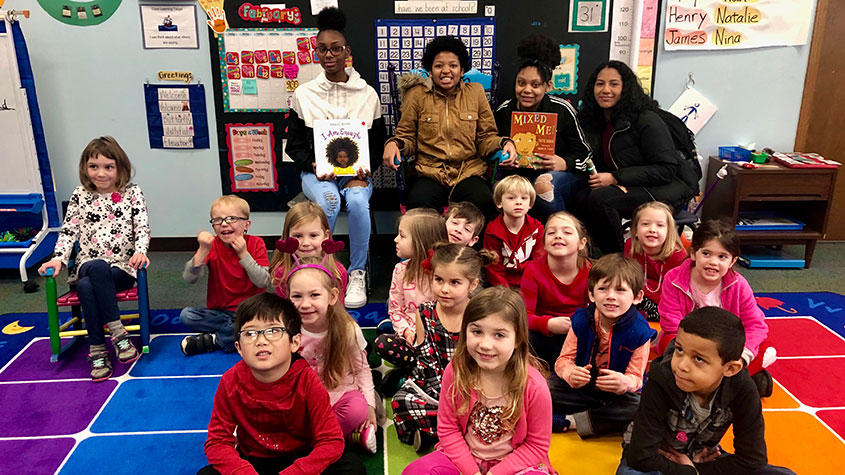 Reading to Elementary Students.