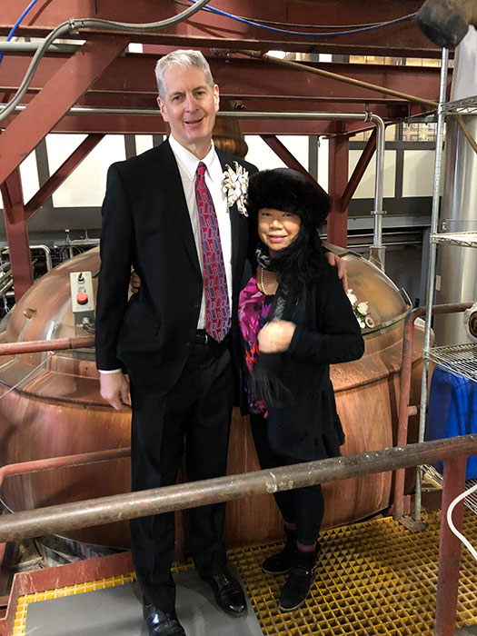 Russ and May Klisch at Lakefront Brewery.