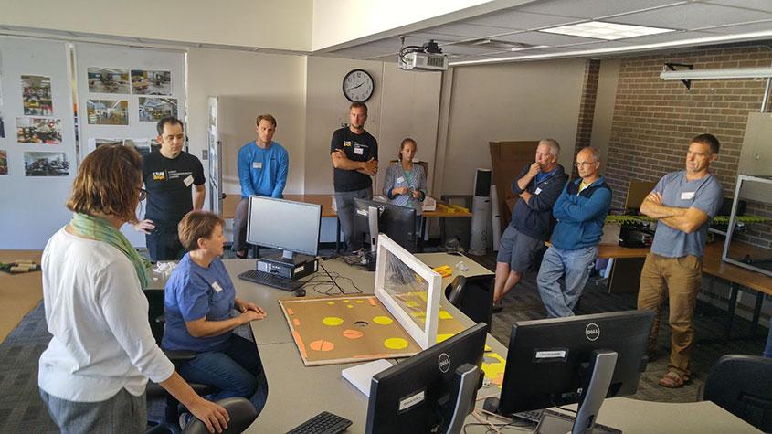 The first set of teachers attending Design Thinking Workshops.